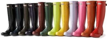 Bottes de pluie en couleur