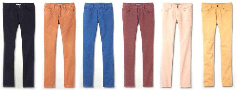 Jeans de couleur