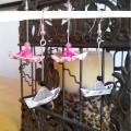boucles d'oreille bateau origami