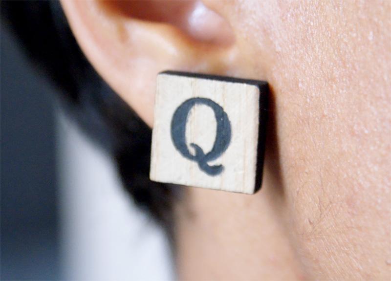 boucles d'oreille scrabble
