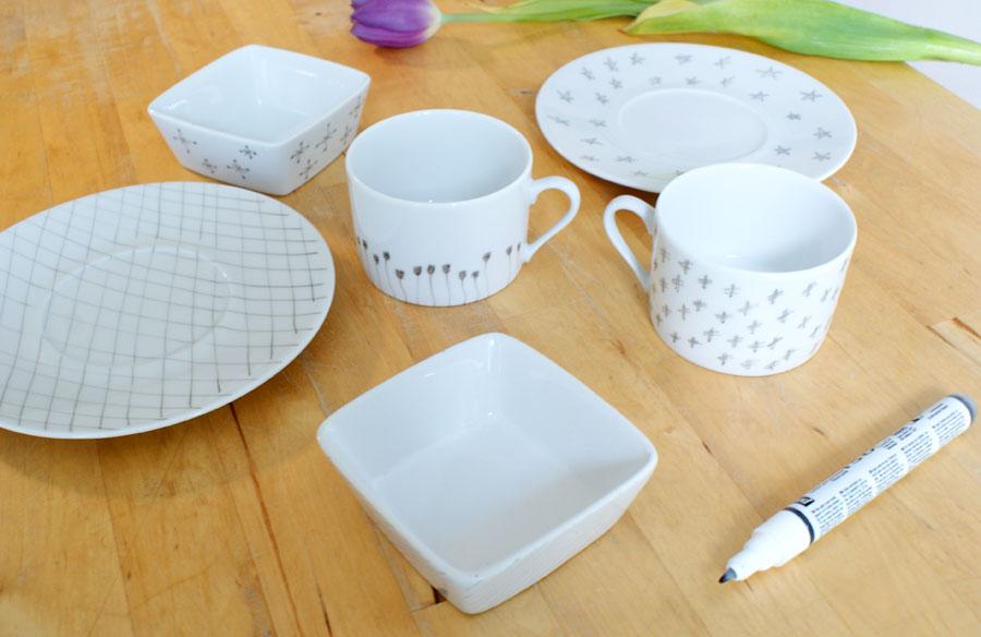 Personnaliser votre vaisselle en porcelaine mademoiselle je sais tout - Vaisselle en porcelaine ...