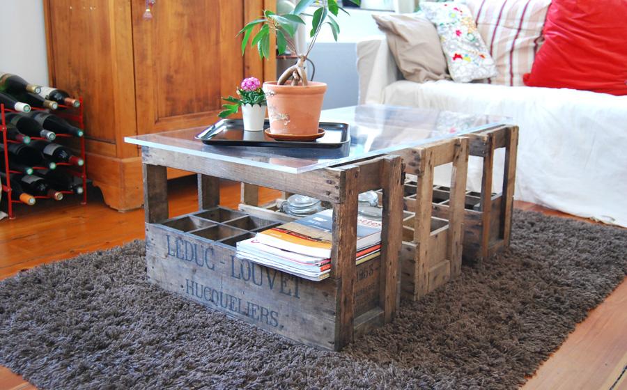 Fabriquer des tiroirs de rangement avec des caisses de vin - Construire un meuble de rangement ...
