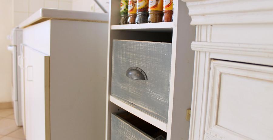 rangement de cuisine caisse de vin