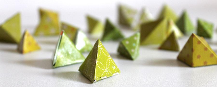 pyramide en origami