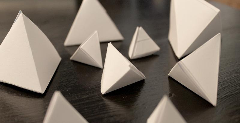 pyramides en origami