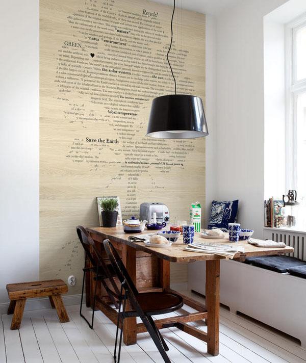 quand le papier peint donne un nouveau look vos murs. Black Bedroom Furniture Sets. Home Design Ideas