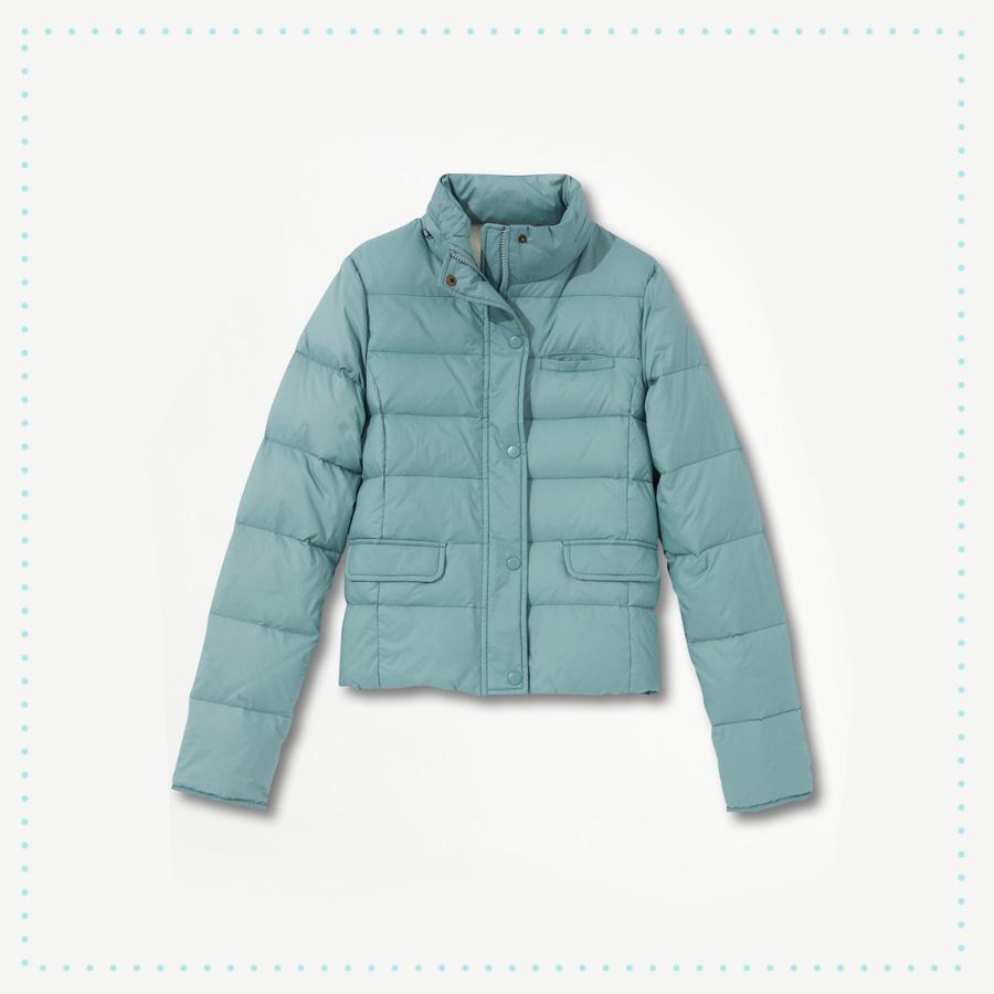 Doudoune couleur bleu glacier