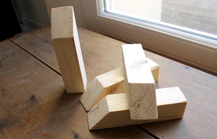 tasseaux en bois