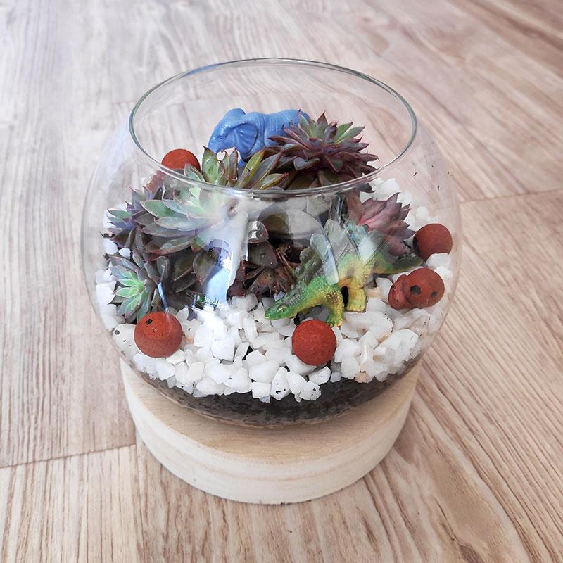 offrez un petit terrarium comme cadeau de fin d'année à la maitresse