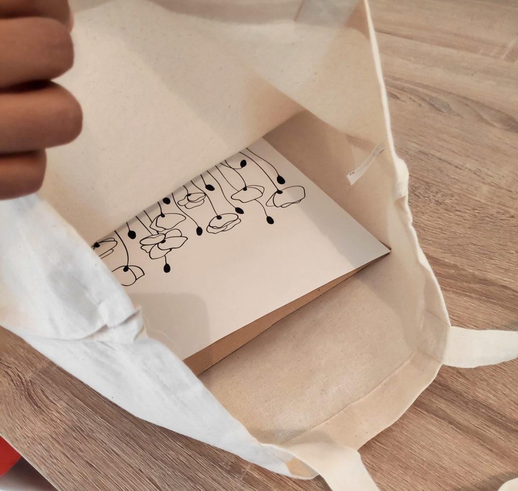 Tote bag avec dessin personnalisé