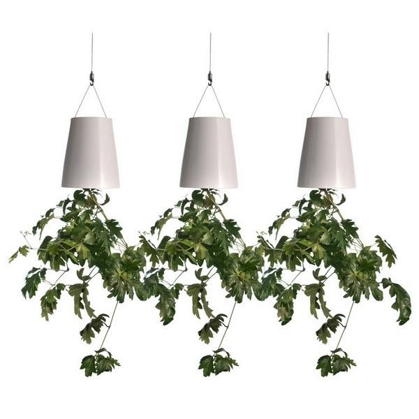 Pots de fleurs renversés pour votre décoration