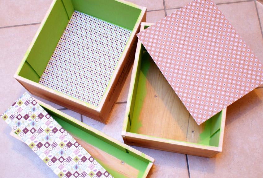 comment faire des étagères avec des caisses à vin en bois