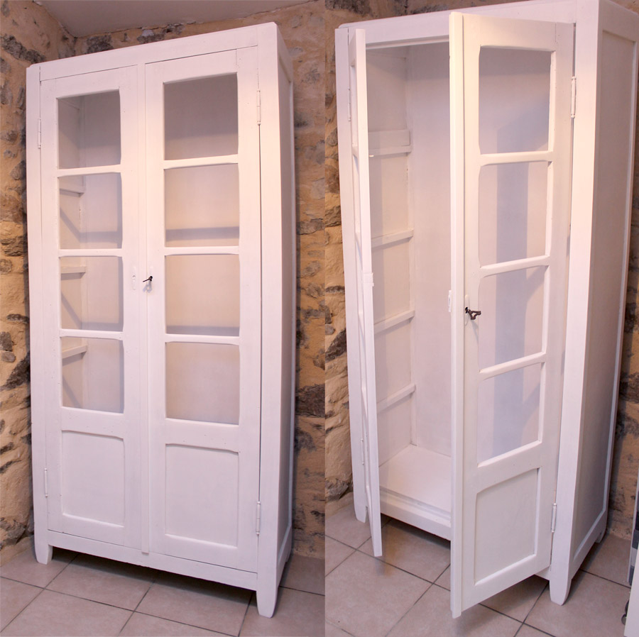 Retaper Une Vieille Caisse En Bois restaurer vielle armoire enfant. redonner vie à un meuble vitage