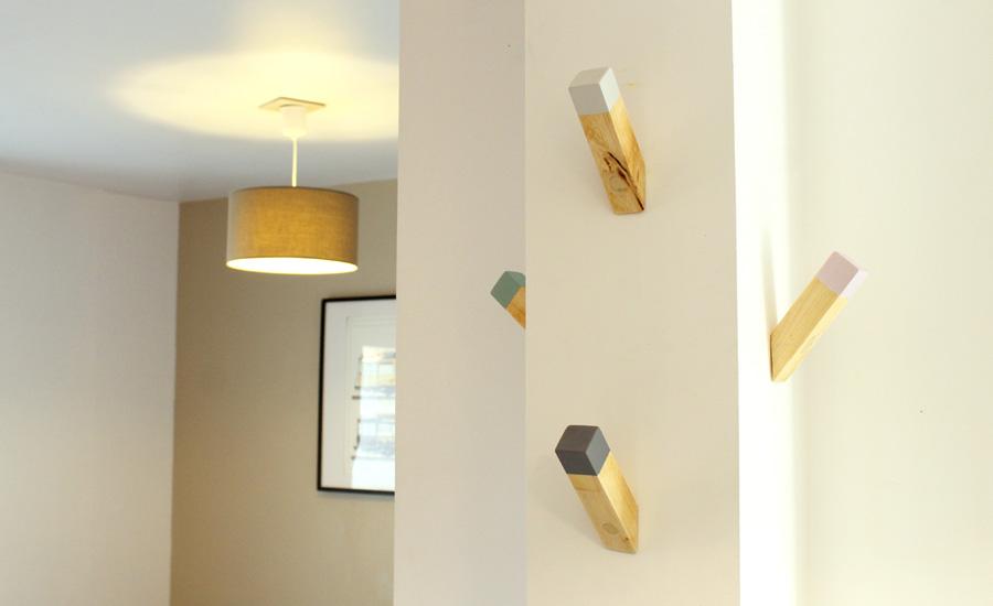 DIY fabriquer des patères design en bois
